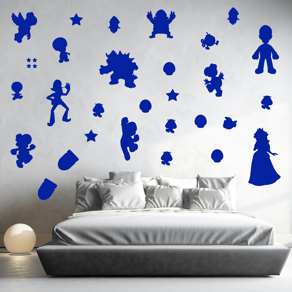 Super Mario Group Gaming & Entertainment Creative Multipack Wall Sticker Decals