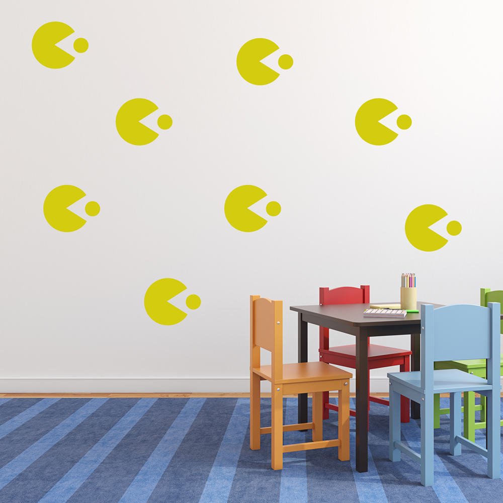Pac Man Symbol Gaming & Entertainment Creative Multipack Wall Sticker Decals