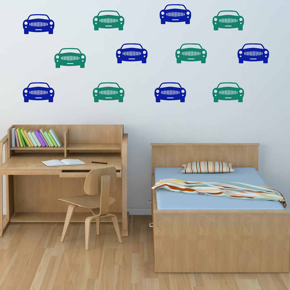 Car Front Facing Car Creative Multipack Wall Stickers Transport Decor Art Decals
