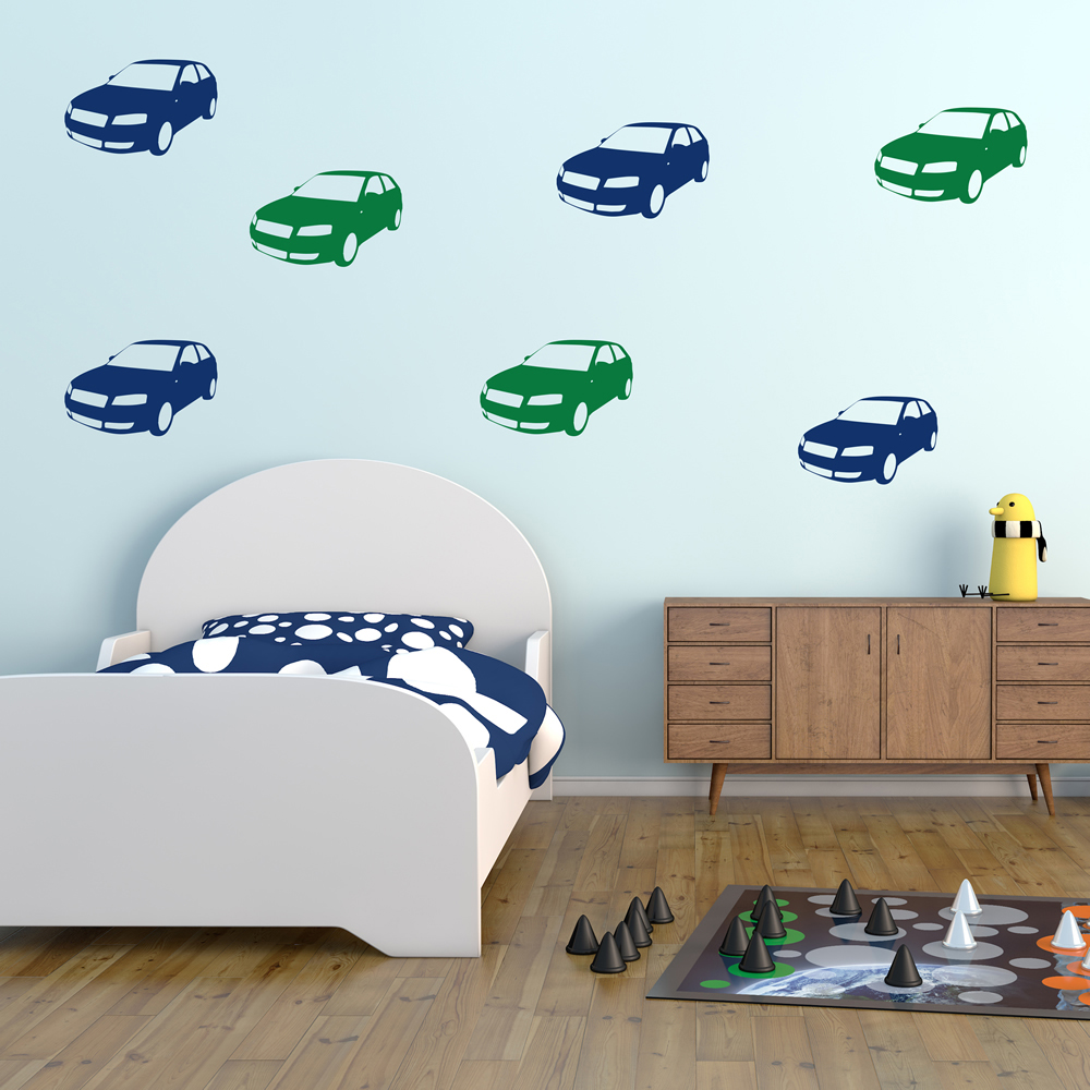 Front Side Car Car Creative Multipack Wall Sticker Transport Decor Art Decals