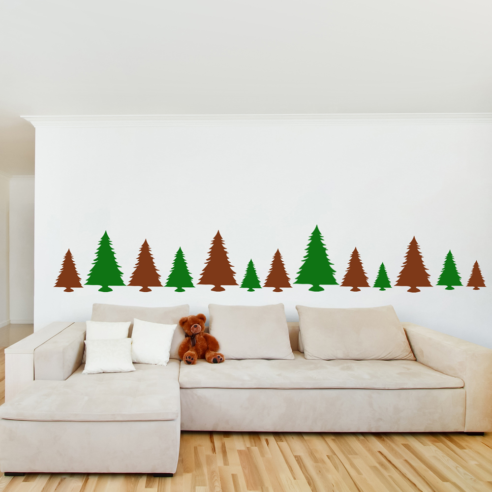 Christmas Tree Wall Sticker Pack Festive Xmas Wall Decal