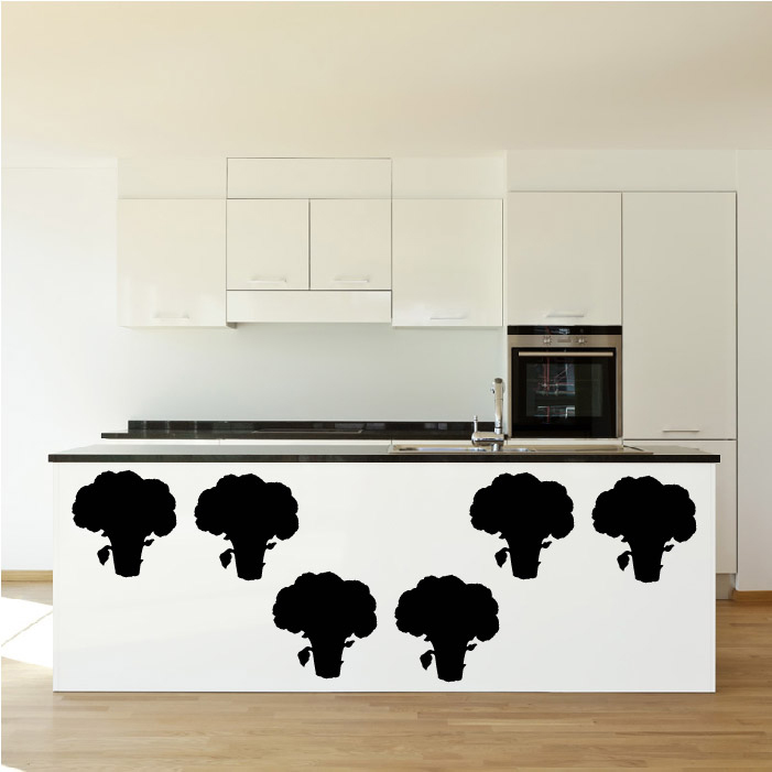 Broccoli Silhouette Wall Stickers Creative Multi Pack Wall Decal Art
