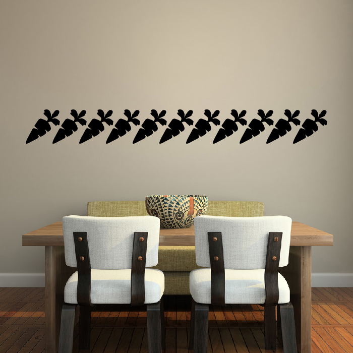 Carrot Silhouette Wall Stickers Creative Multi Pack Wall Decal Art