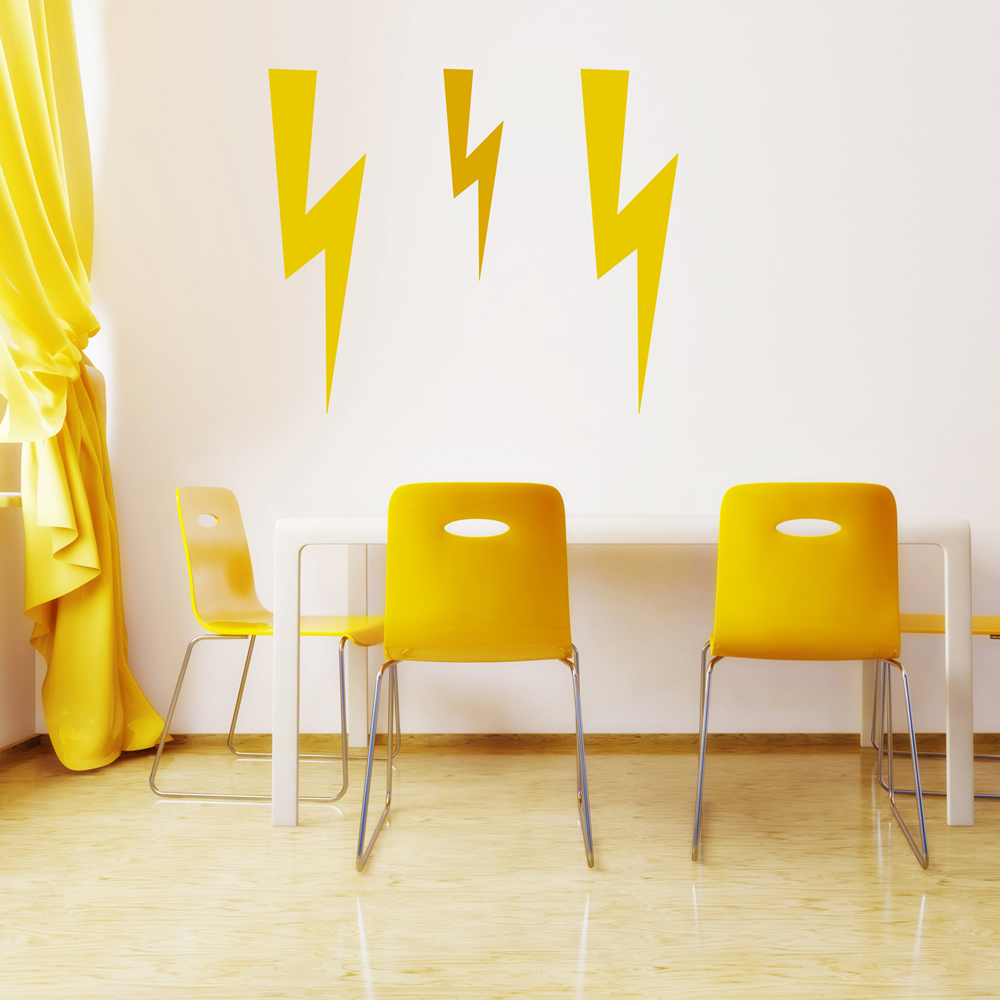 Lightning Decorative Patterns Creative Multipack Wall Sticker Home Art Decal