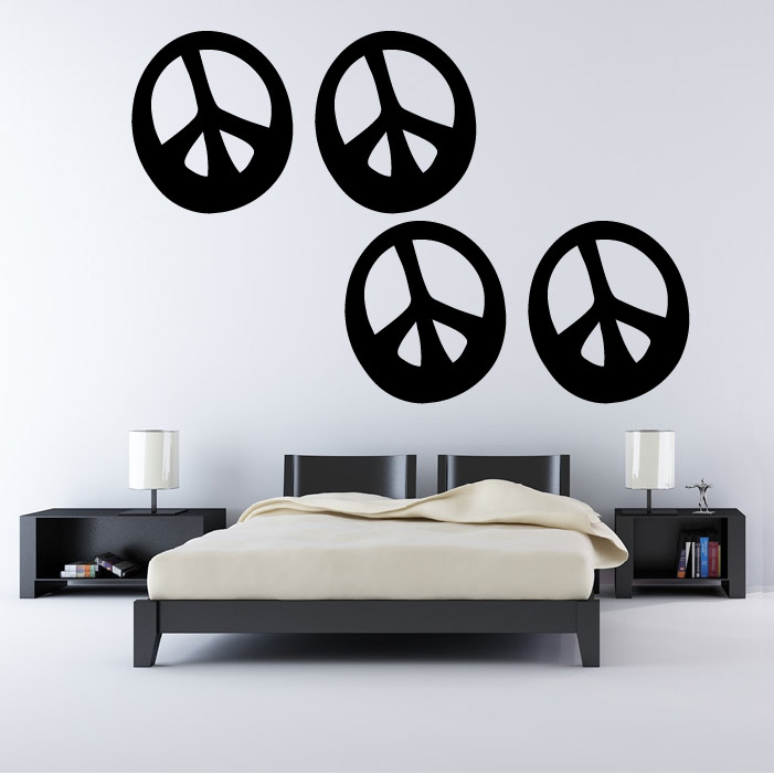 curved peace sign wall sticker creative multi pack wall peace signs wall decal sixties wall decal murals