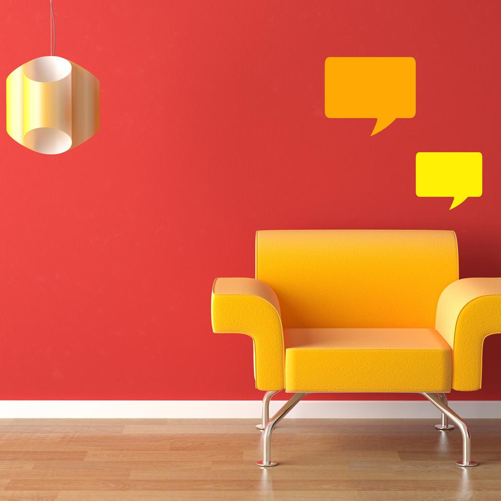Rectangular Speech Bubble Creative Multipack Wall Stickers Home School Art Decal