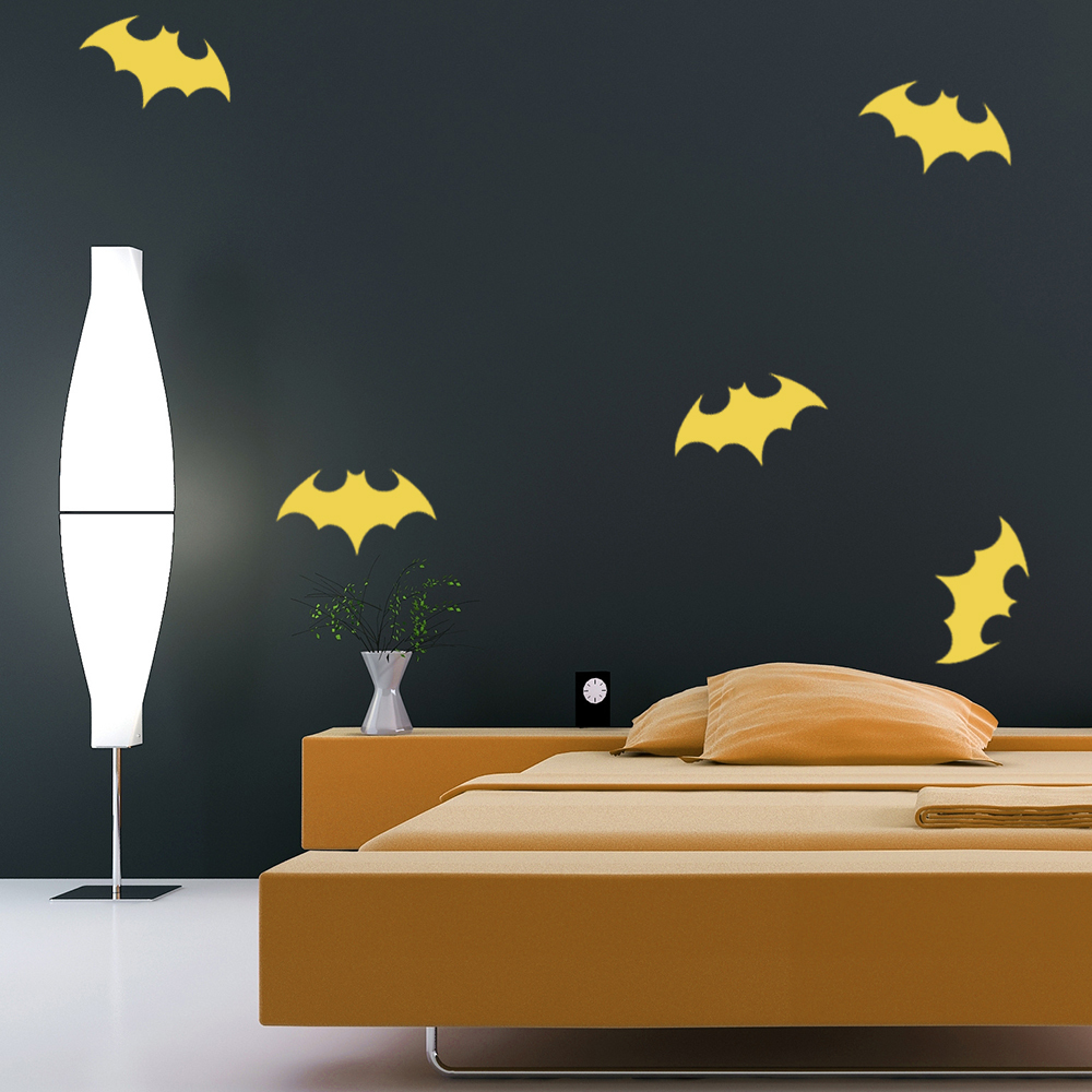 Batman Wall Sticker Pack Superhero Logo Wall Decal Boys ...