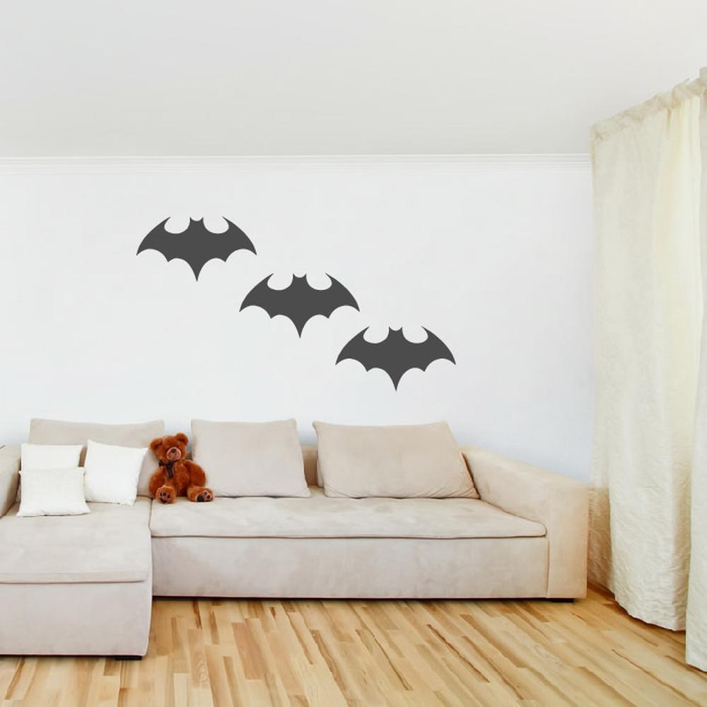 Batman Wall Sticker Pack Superhero Logo Wall Decal Boys Bedroom Home Decor
