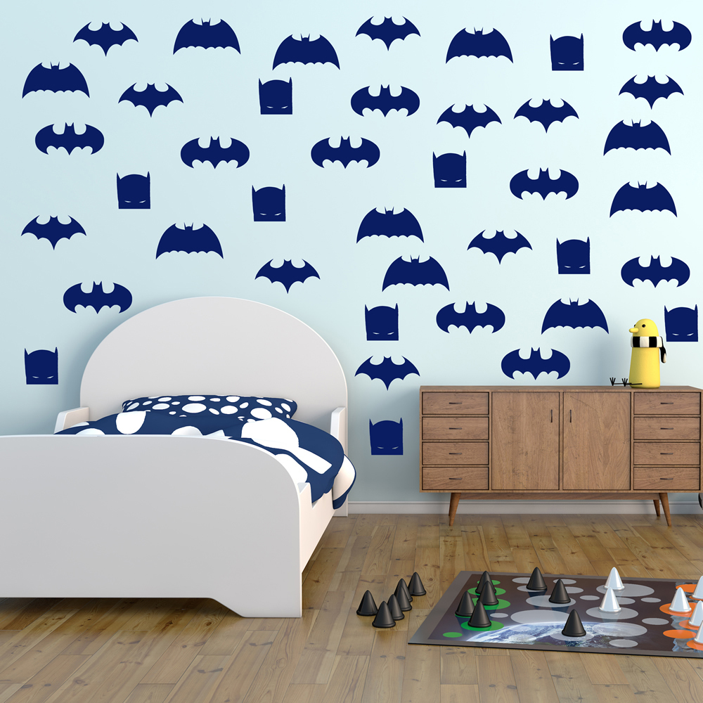 Batman Logo Group Superheroes Creative Multipack Wall Stickers Kids Art Decals