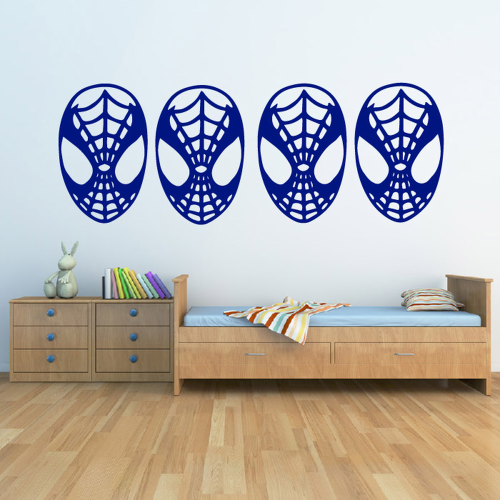 Spider Man Face Wall Sticker Creative Multi Pack Wall Decal Art