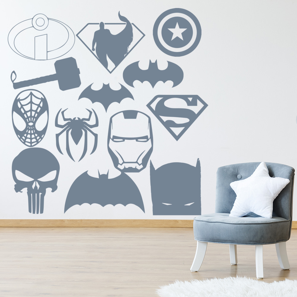 Superhero Group Superheroes Creative Multipack Wall Stickers Childrens Art Decal
