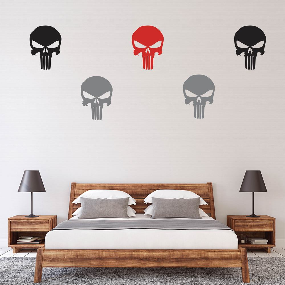Punisher Logo Superheroes Creative Multipack Wall Stickers Childrens Art Decals