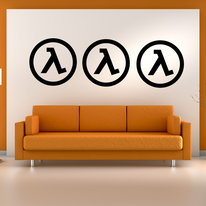 Half Life Logo Gaming & Entertainment Creative Multipack Wall Sticker Art Decal