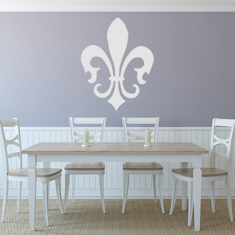 Floral Fleur De Lis Silhouette Decorative Patterns Wall Stickers Home Art Decals