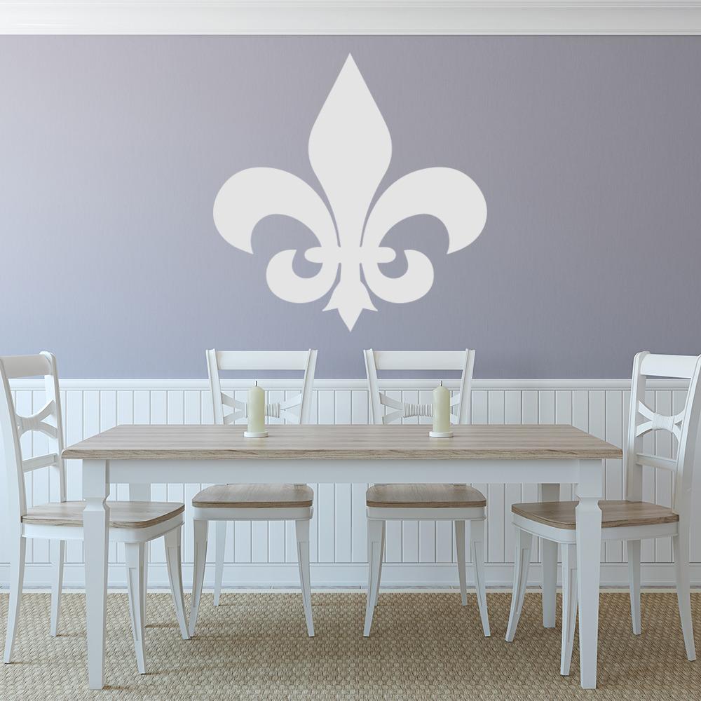 Fleur De Lis Simple Silhouette Wall Sticker Decorative
