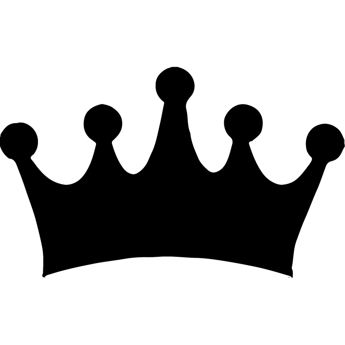 Simple Crown Silhouette Wall Sticker Decorative Decal Art