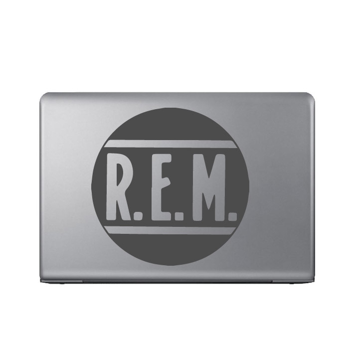 R.E.M Band Name Logo Laptop Phone Tablet Car Stickers Home Decor Art Decals