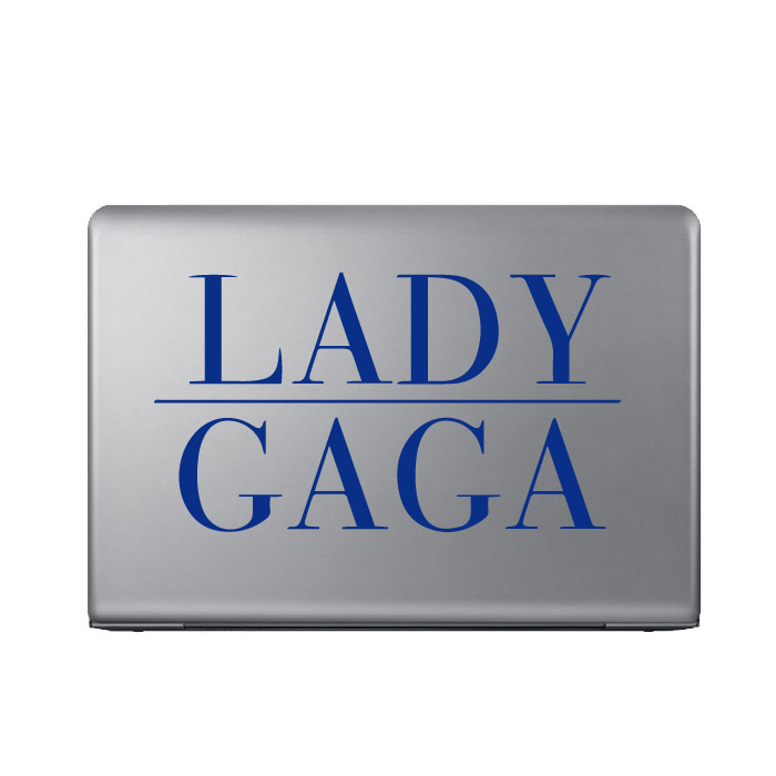 Lady Gaga Band Name Logo Laptop Phone Tablet Car Sticker Home Decor Art Decals
