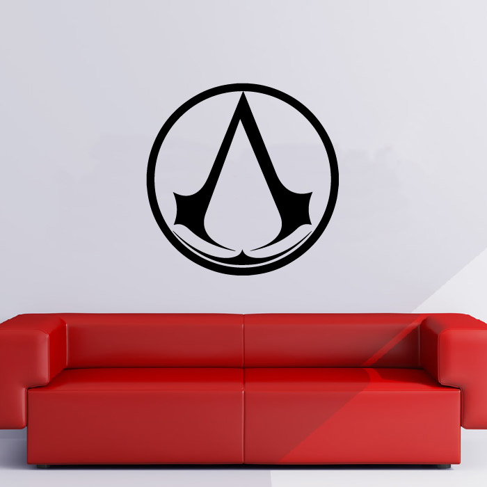 Assassins Creed Circle Gaming & Entertainment Wall Stickers Home Art Decals