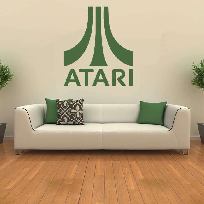 Atari Logo Symbol Gaming & Entertainment Wall Stickers Home Art Decals