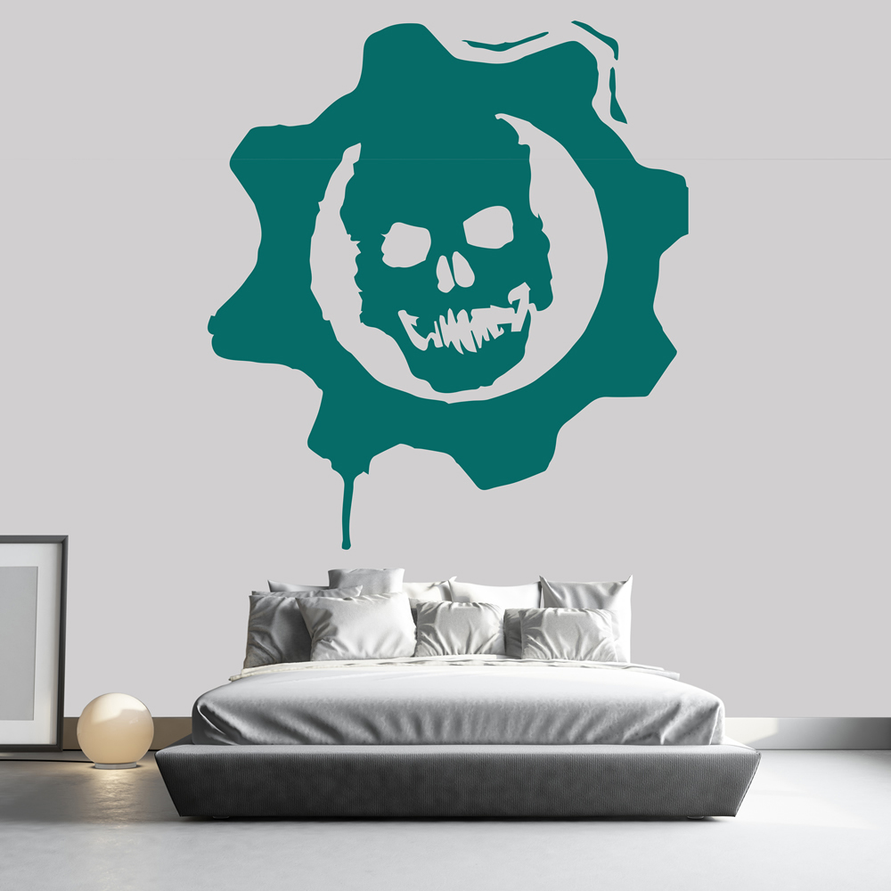 Gears Of War Logo Icon Gaming & Entertainment Wall Stickers Home Art Decals