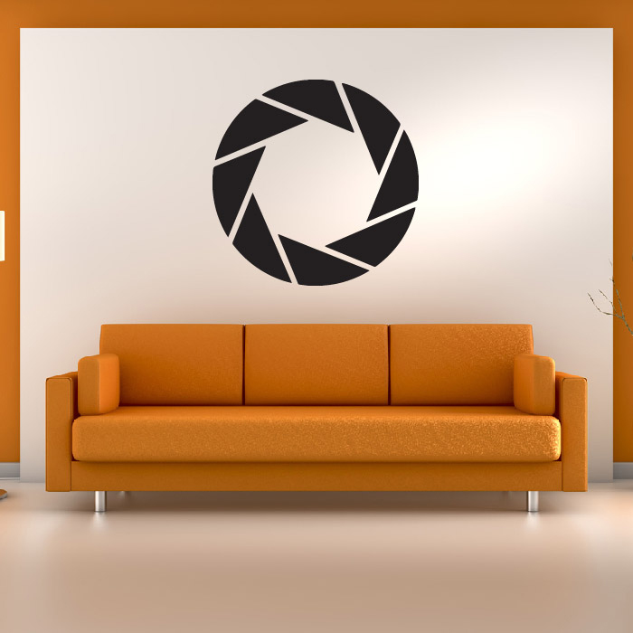 Aperture Science Portal Gaming & Entertainment Wall Stickers Home Art Decals