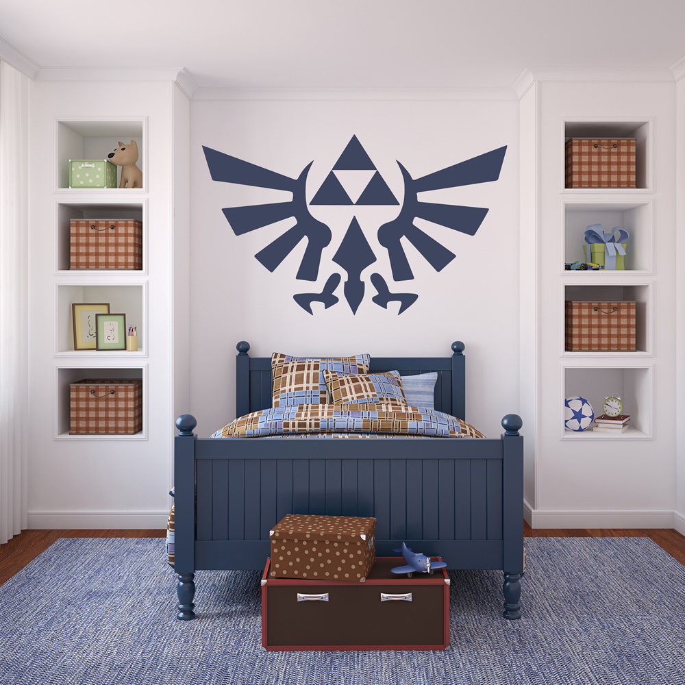 Legend Of Zelda Triforce Logo Gaming & Entertainment Wall Stickers Home Decals