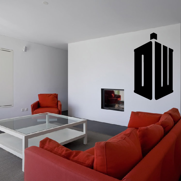 Dr Who Logo Sci-Fi TV Gaming & Entertainment Wall Stickers Home Art Decal
