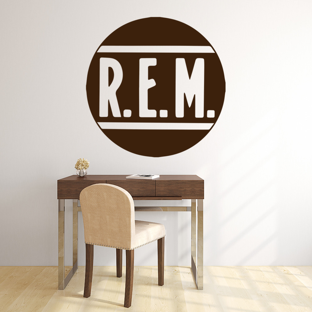 R.E.M Band Name Logo Musicians & Band Logos Wall Stickers Music Decor Art Decals