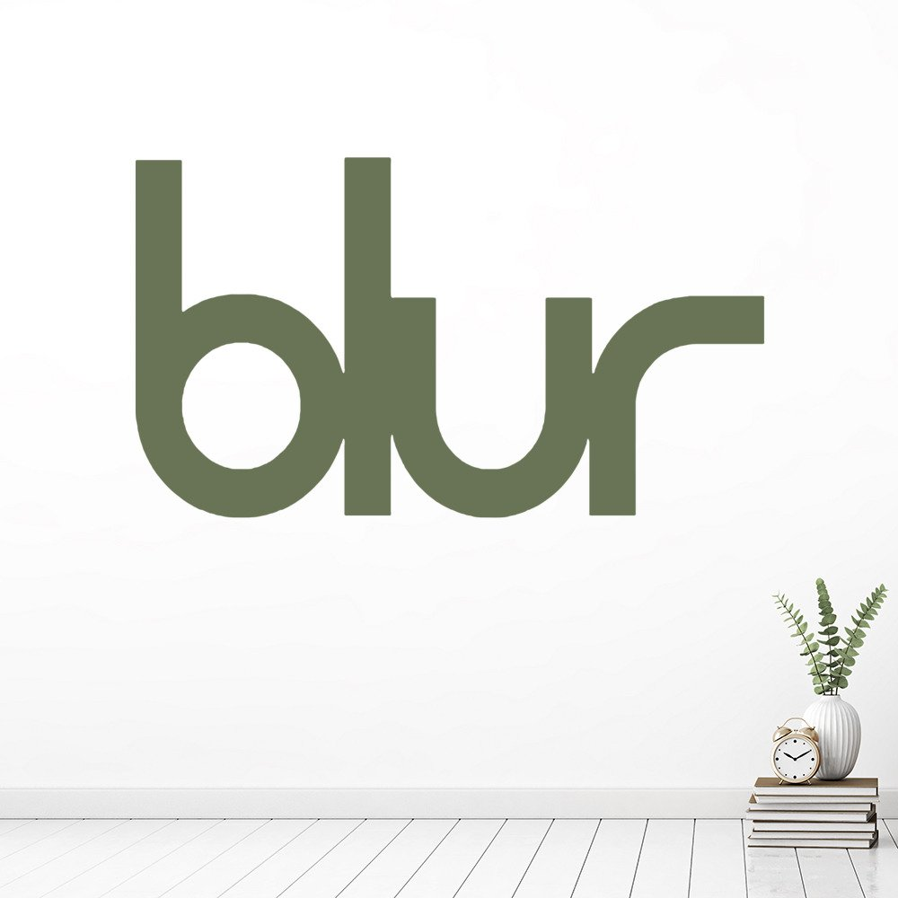 Blur Band Name Logo Musicians & Band Logos Wall Stickers Music Decor Art Decals