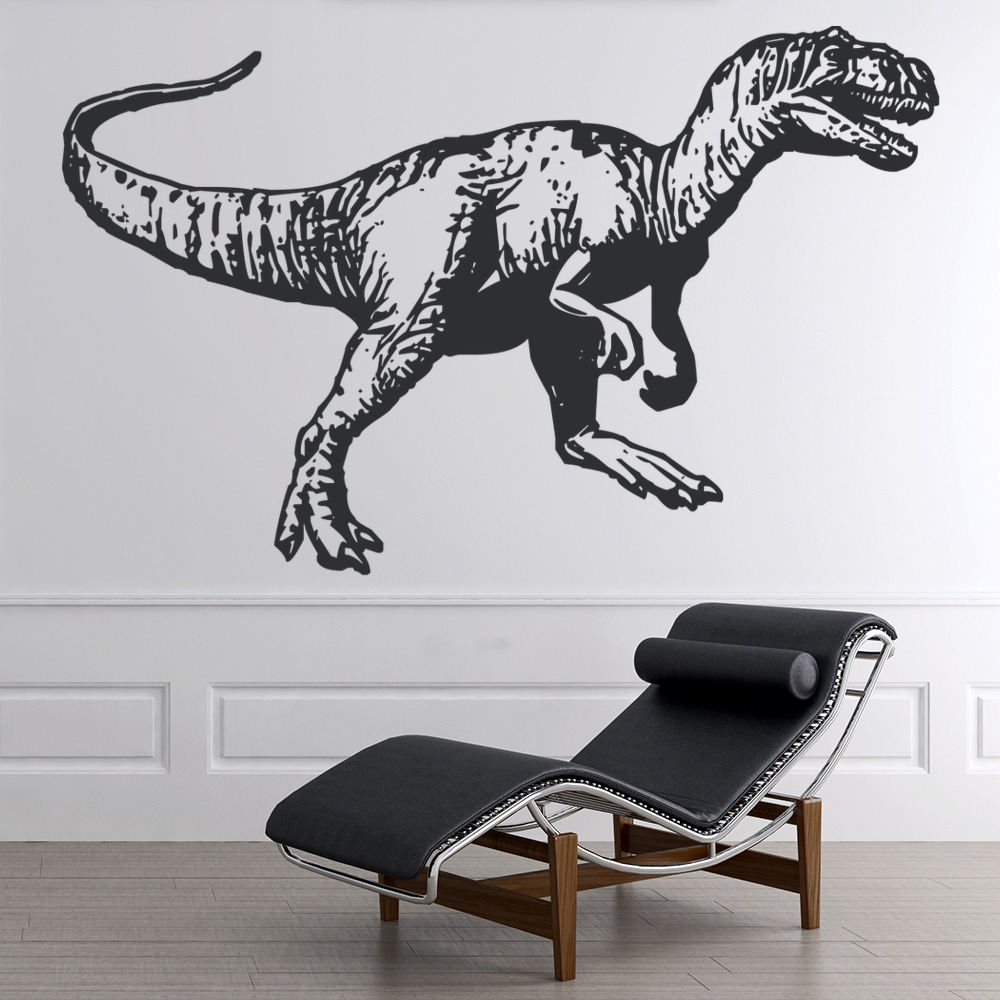 tyrannosaurus rex detailed wall sticker dinosaur wall art dinosaurs wall sticker