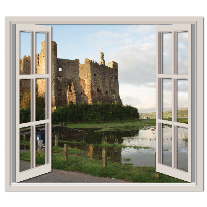 Castle Ruin Royal Digital Scene Digital Wall Stickers Home Decor Art Decals