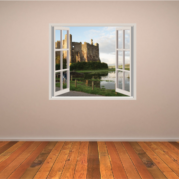 castle wall sticker window wall decal
