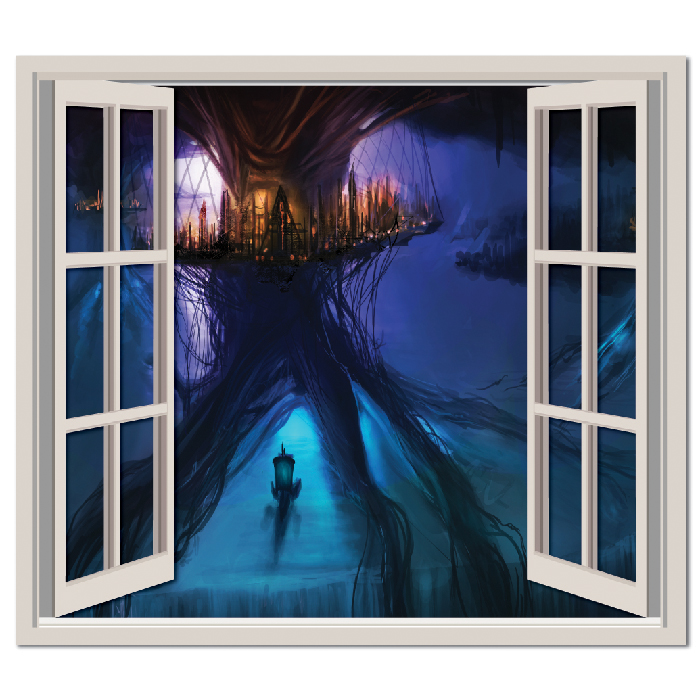 Fantasy City Fantasy Digital Scene Digital Wall Stickers Home Decor Art Decals