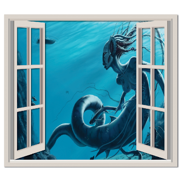 Sea Creature Fantasy Digital Scene Digital Wall Stickers Home Decor Art Decals