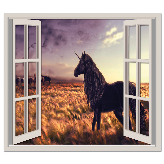 Unicorn Field Fantasy Digital Scene Digital Wall Stickers Home Decor Art Decals