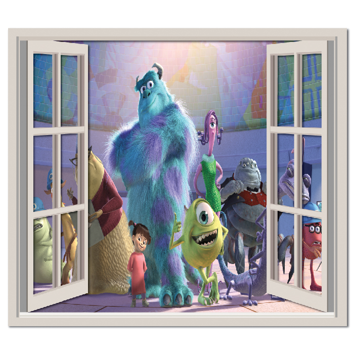 monsters inc group wall sticker window wall decal monsters inc peel and stick wall decals roommates