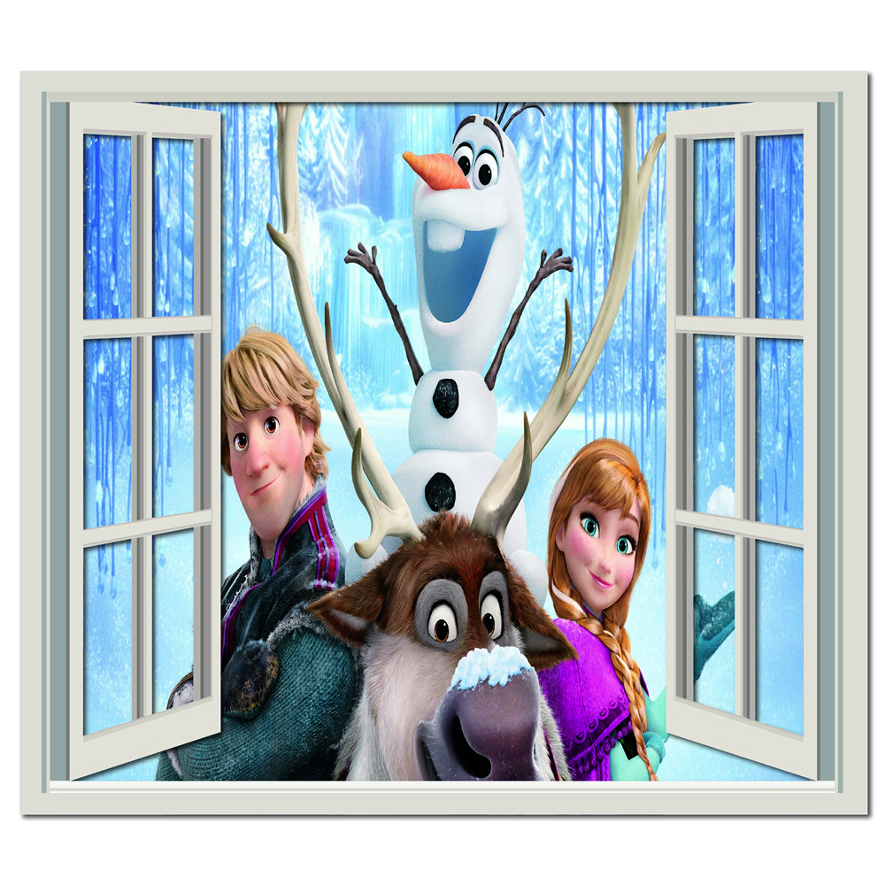 Frozen Group Wall Sticker Window Wall Decal