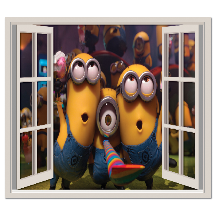Despicable Party Wall Sticker Window Wall Decal