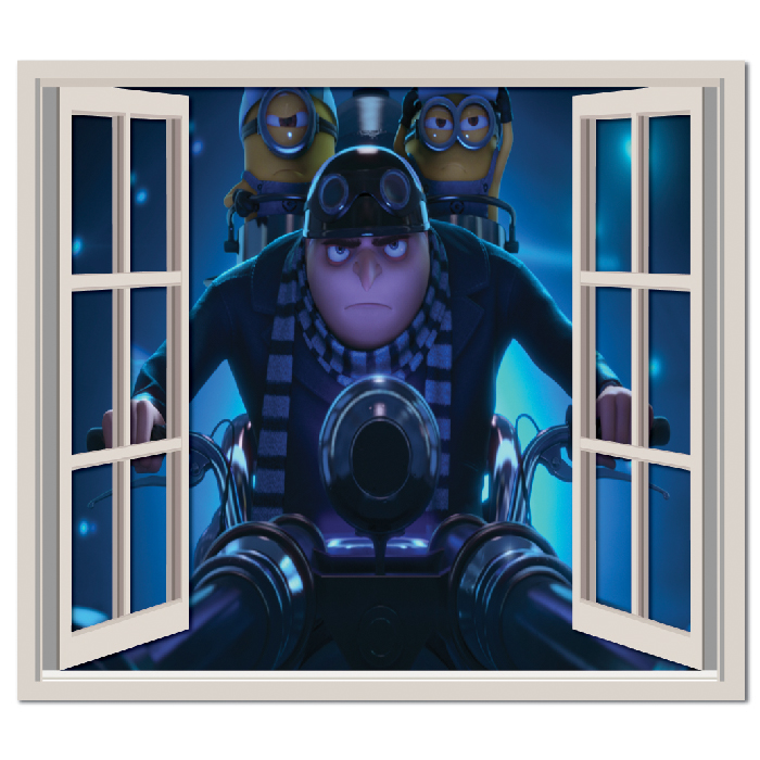 Despicable Me Motorbike Wall Sticker Window Wall Decal