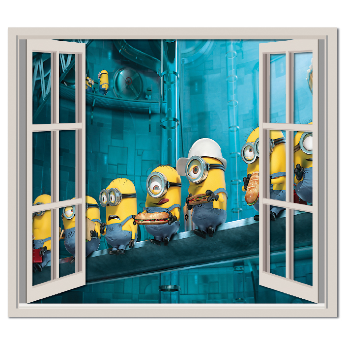 Despicable Me Minion Workers Wall Sticker Window Wall Decal