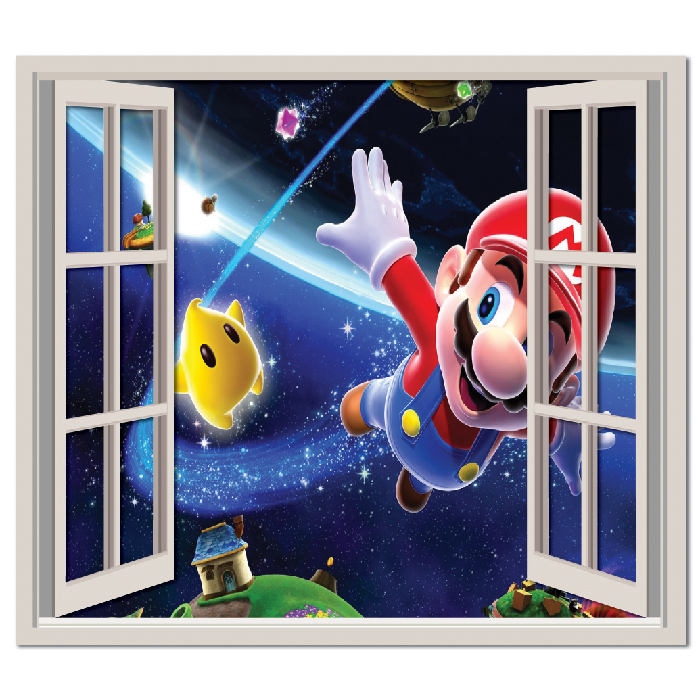Super Mario Galaxy Wall Sticker Window Wall Decal