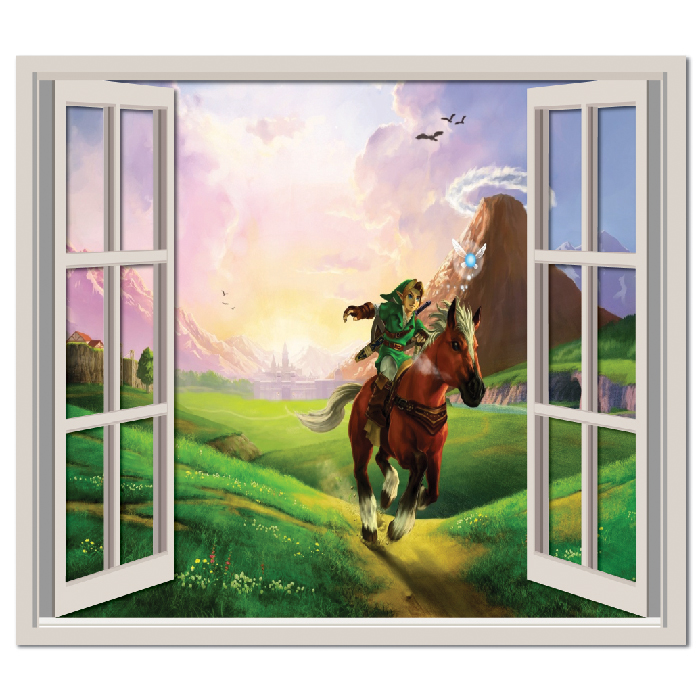 The Legend Of Zelda Landscape Wall Sticker Window Wall Decal