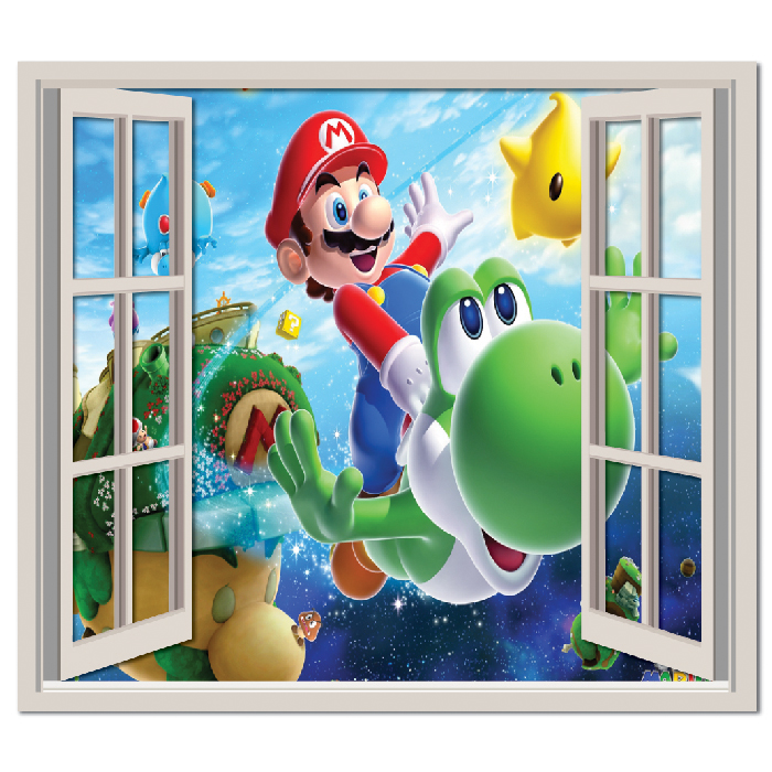 Mario Galaxy Wall Sticker Window Wall Decal