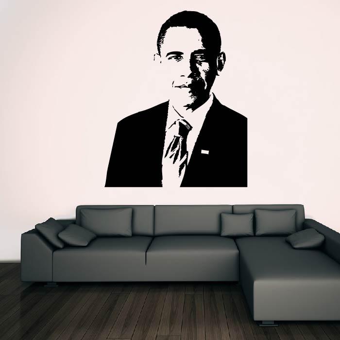 Barack Obama Wall Sticker Icon Wall Art