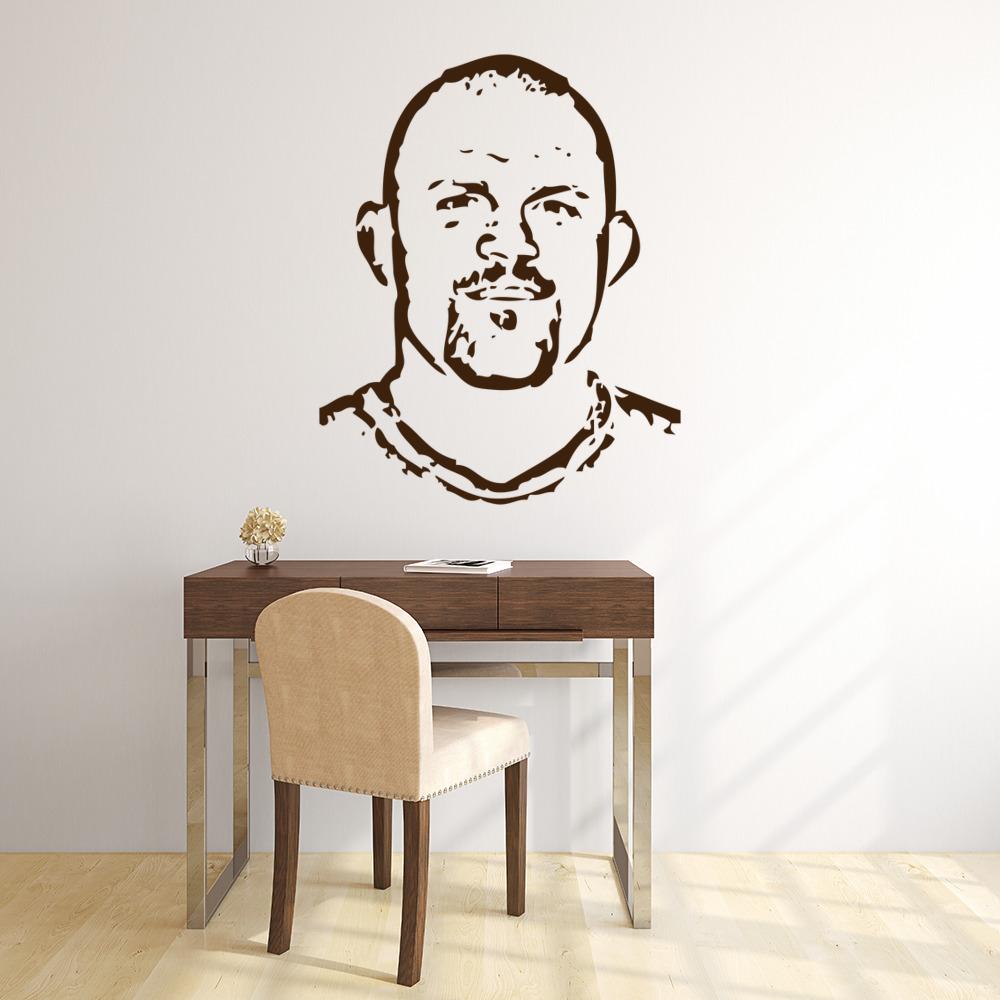 Chuck Liddell Portrait Wall Sticker Icon Wall Art