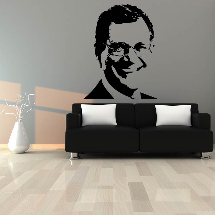 David Letterman Portrait Wall Sticker Icon Wall Art