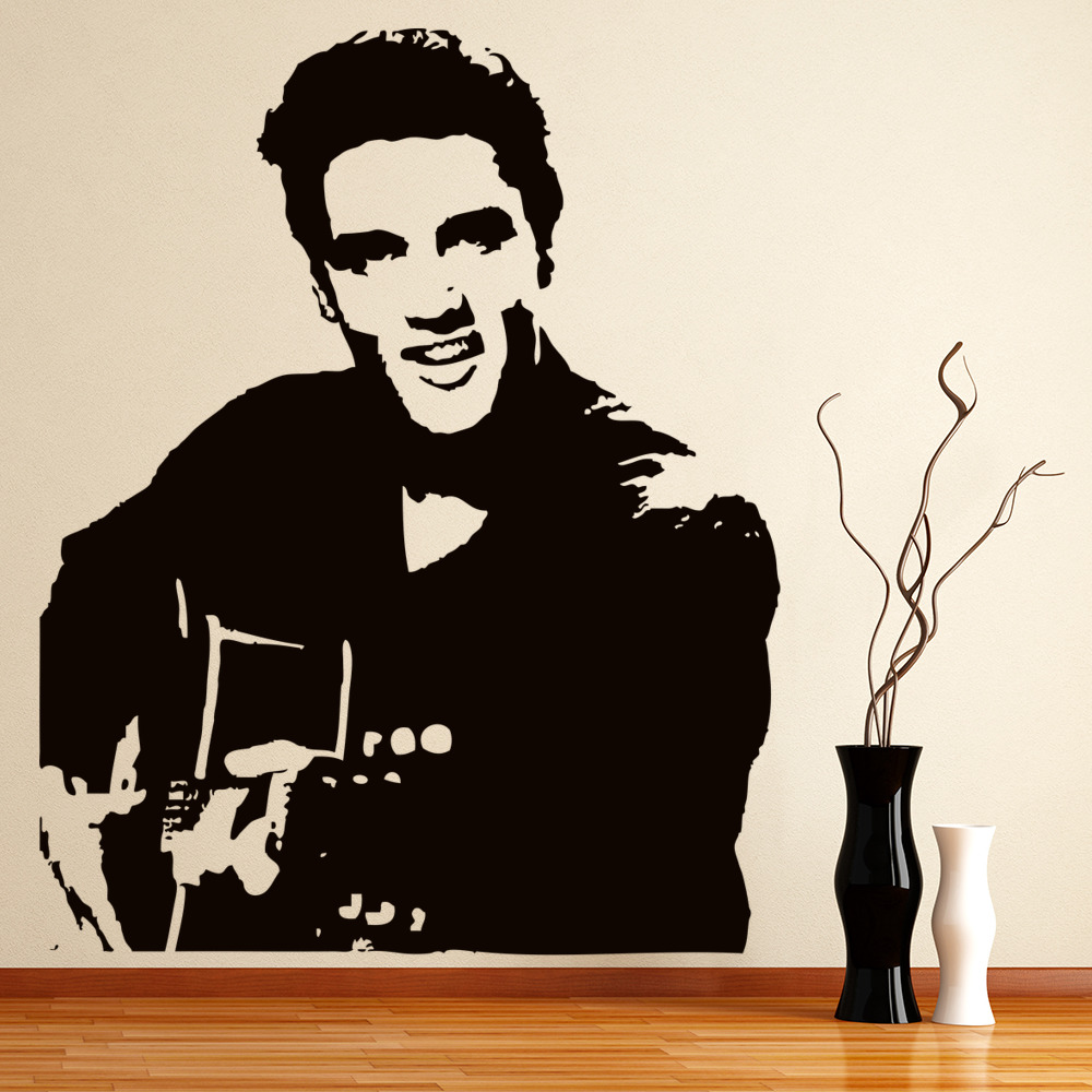 Elvis And Guitar Wall Sticker Icon Wall Art