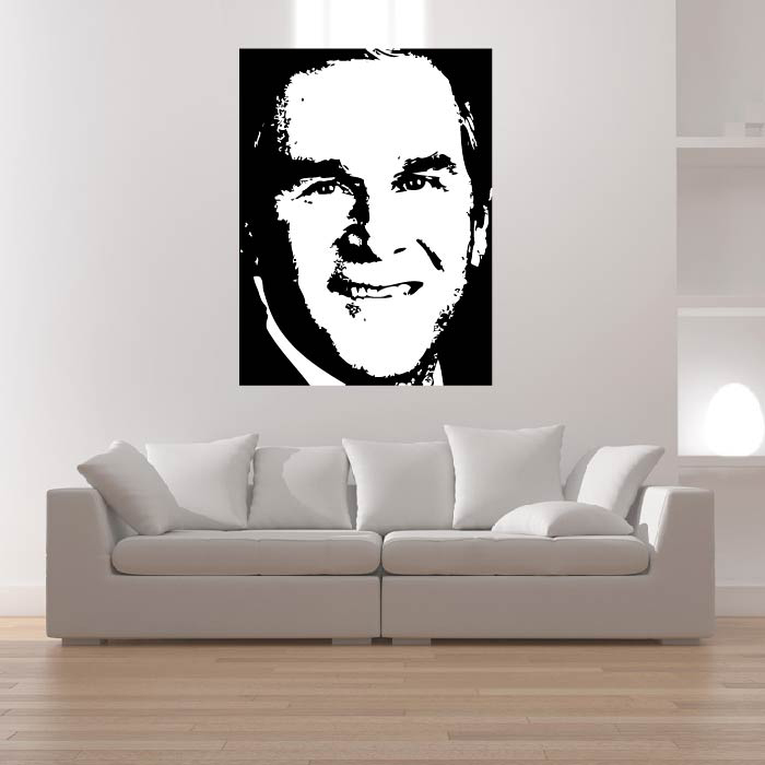 George Bush Portrait Wall Sticker Icon Wall Art