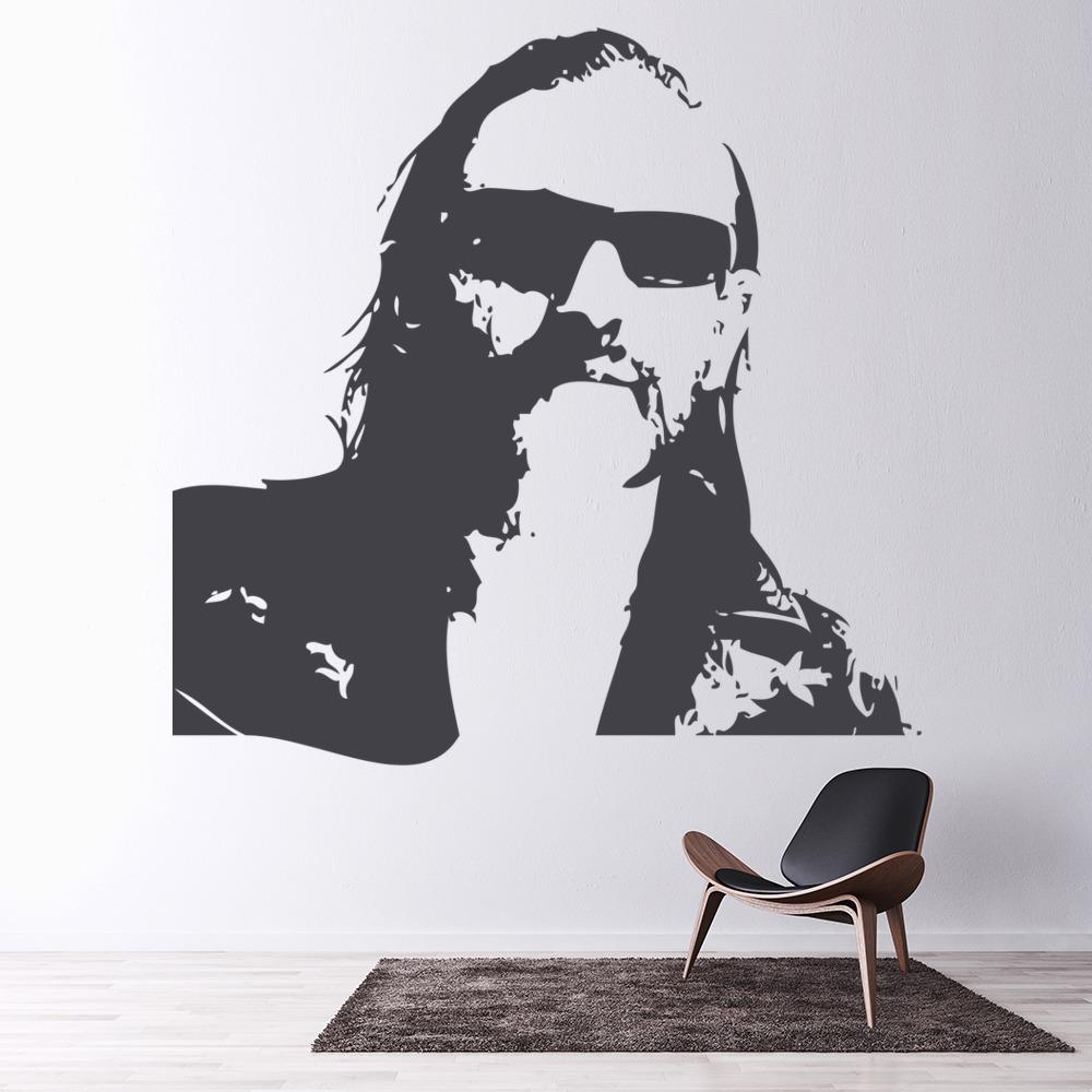 Lemmy Kilmister Portrait Wall Sticker Icon Wall Art